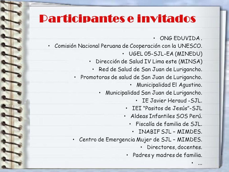 Participantes e invitados
