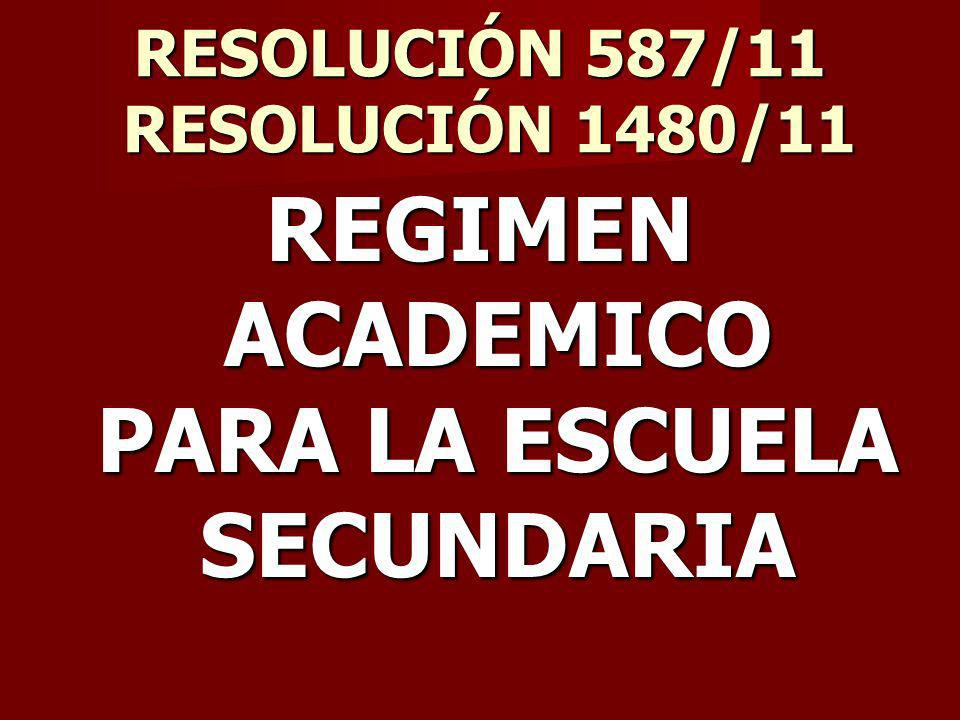 RESOLUCIÓN 587/11 RESOLUCIÓN 1480/11