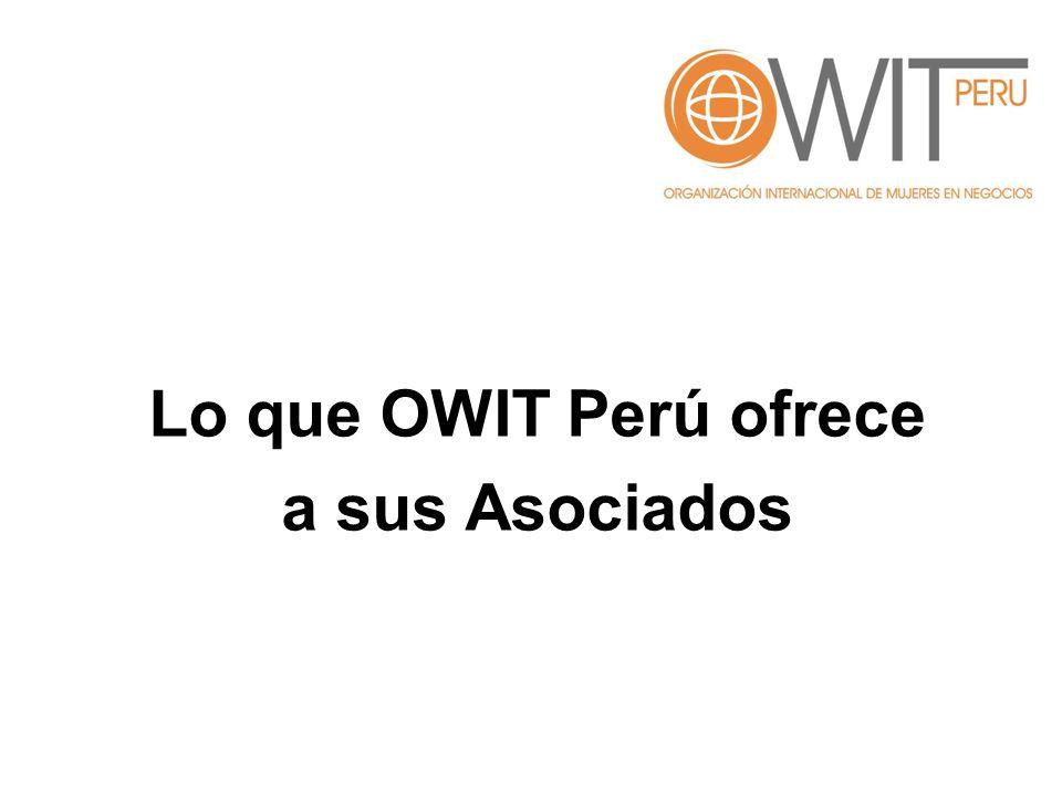 Lo que OWIT Perú ofrece a sus Asociados