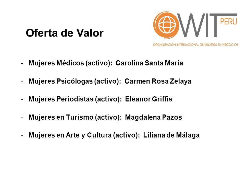 Oferta de Valor Mujeres Médicos (activo): Carolina Santa María