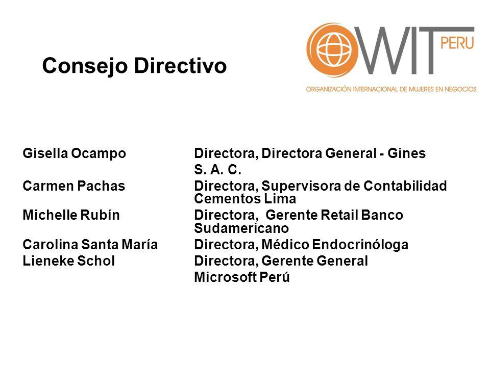 Consejo Directivo Gisella Ocampo Directora, Directora General - Gines