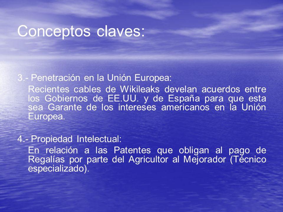 Conceptos claves: 3.- Penetración en la Unión Europea:
