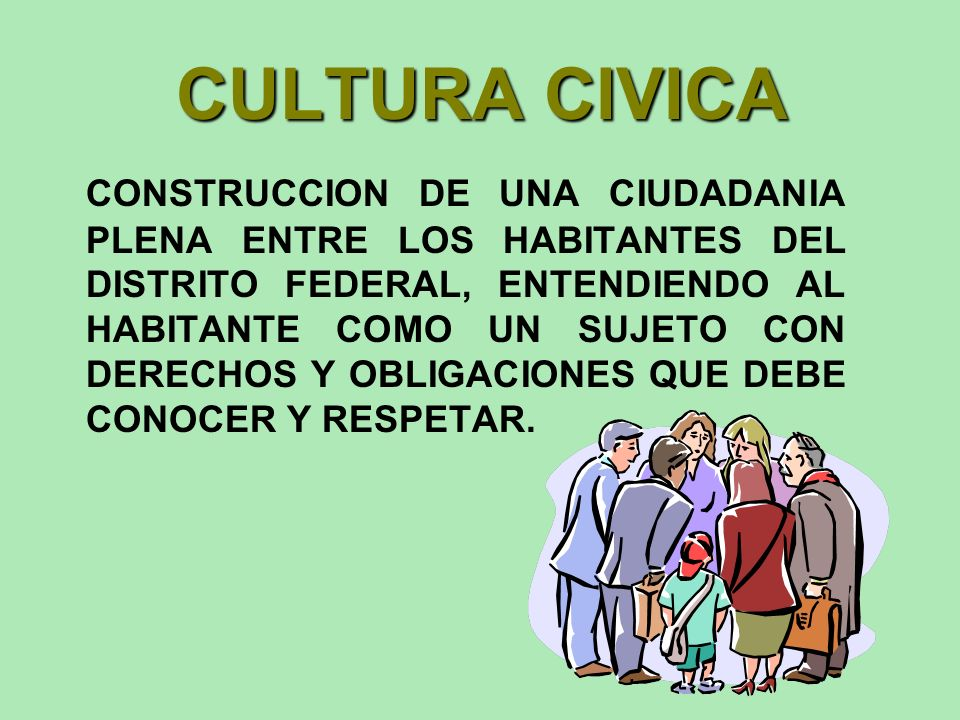 CULTURA CIVICA