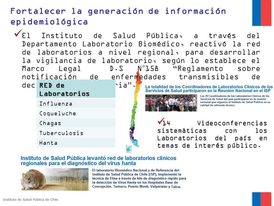Fortalecer la generación de información epidemiológica