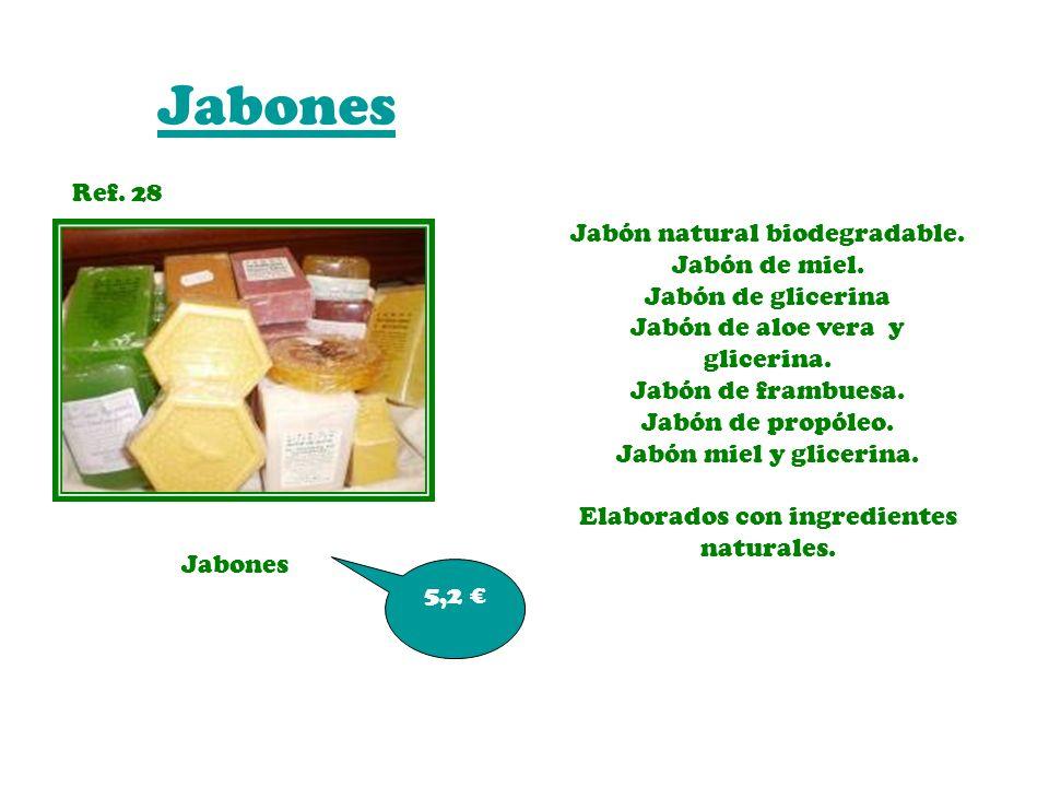 Jabones Ref. 28 Jabón natural biodegradable. Jabón de miel.