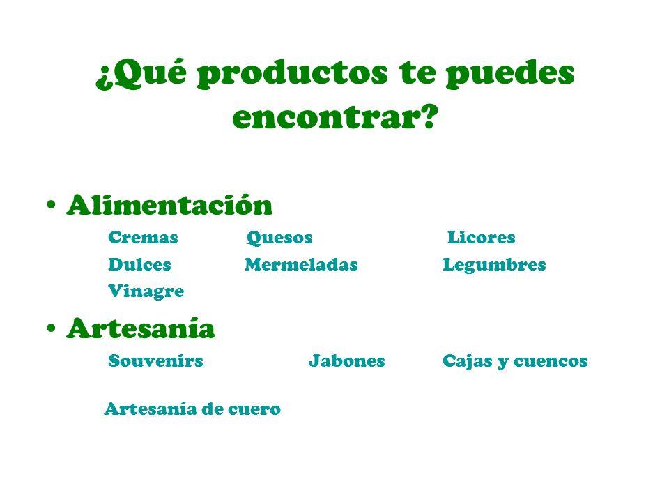 ¿Qué productos te puedes encontrar