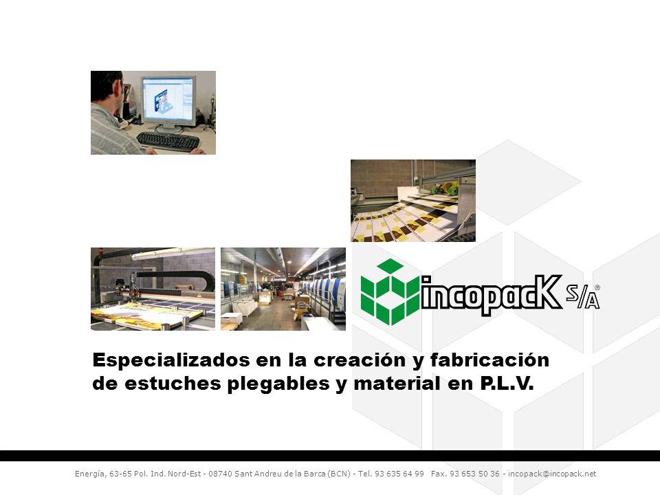 Especializados en la creación y fabricación de estuches plegables y material en P.L.V.