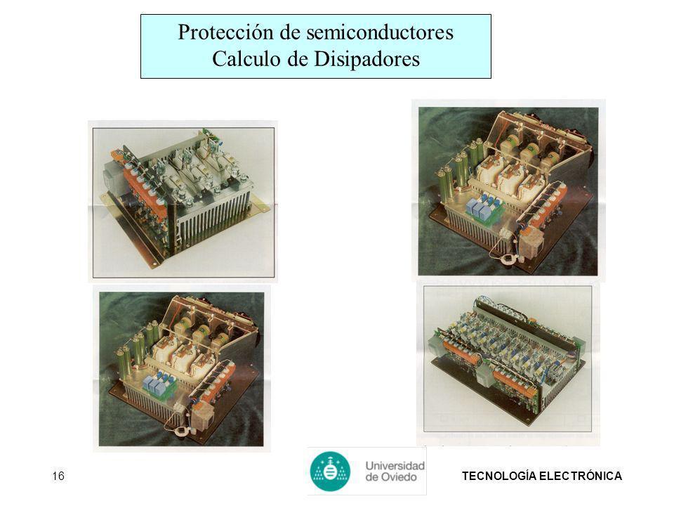 Protección de semiconductores Calculo de Disipadores