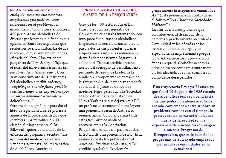 PRIMER AMIGO DE AA DEL CAMPO DE LA PSIQUIATRÍA