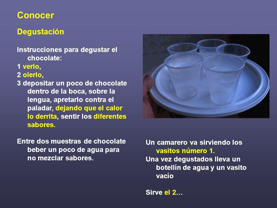 Conocer Degustación Instrucciones para degustar el chocolate: 1 verlo,
