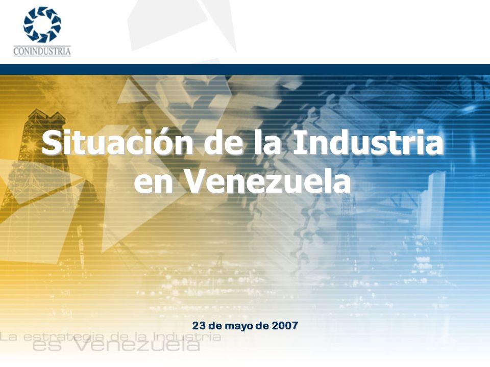 Situación de la Industria en Venezuela