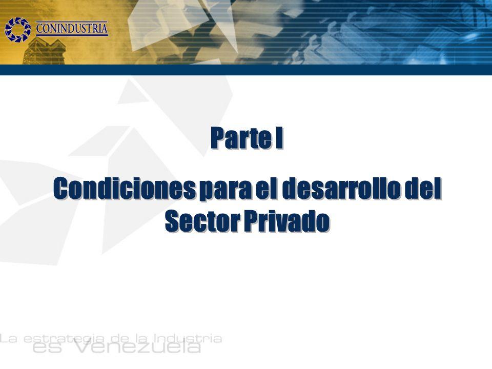 Condiciones para el desarrollo del Sector Privado