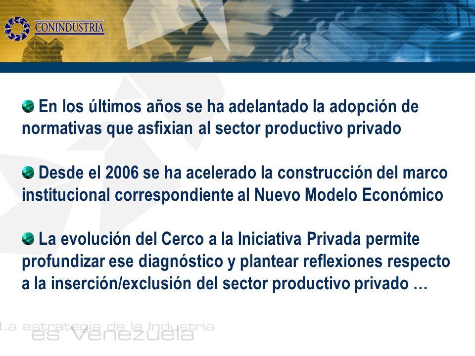 En los últimos años se ha adelantado la adopción de normativas que asfixian al sector productivo privado