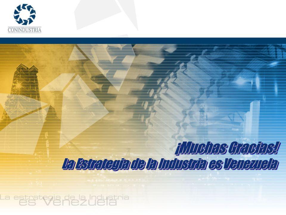 ¡Muchas Gracias! La Estrategia de la Industria es Venezuela