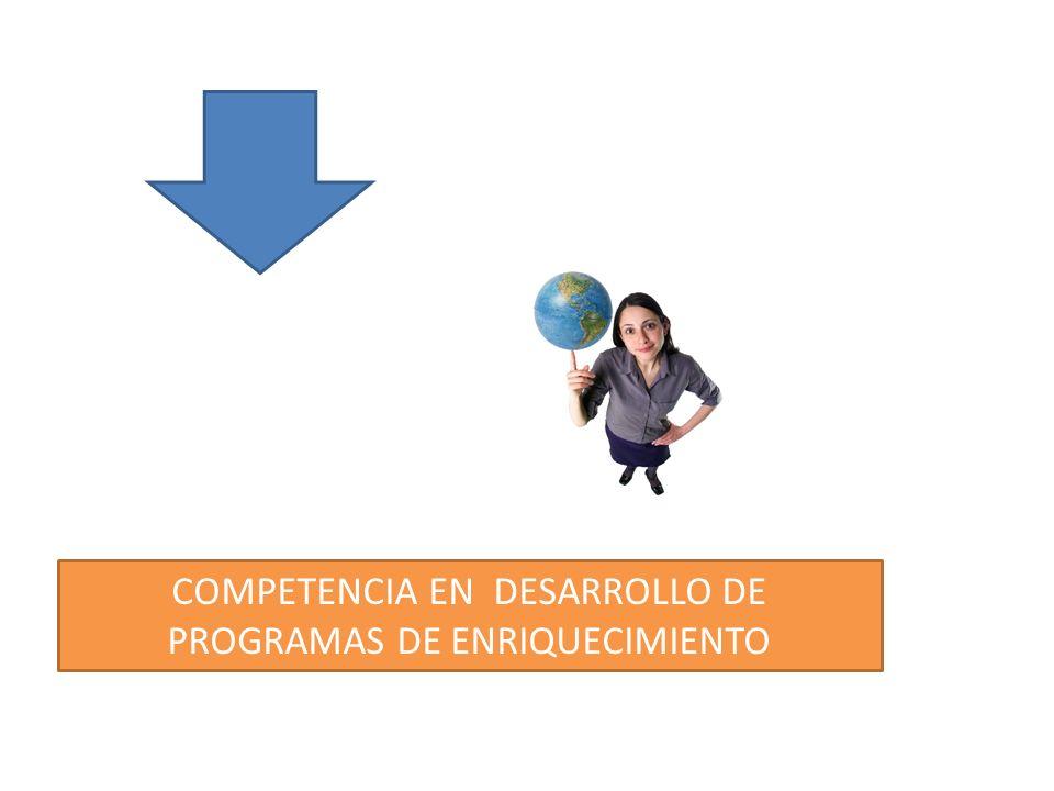 COMPETENCIA EN DESARROLLO DE PROGRAMAS DE ENRIQUECIMIENTO