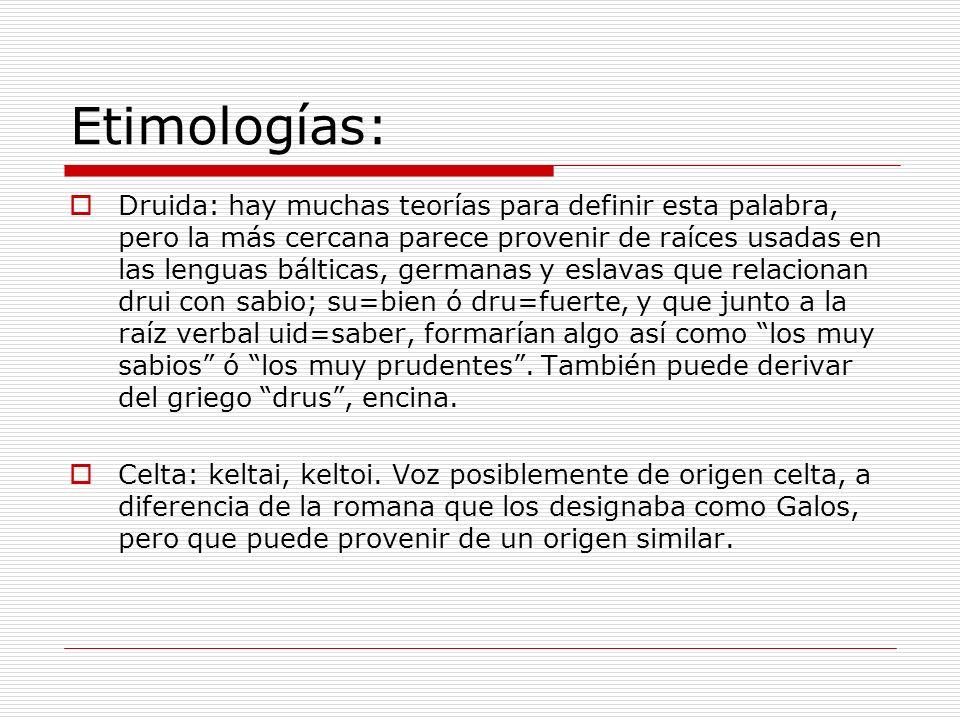 Etimologías: