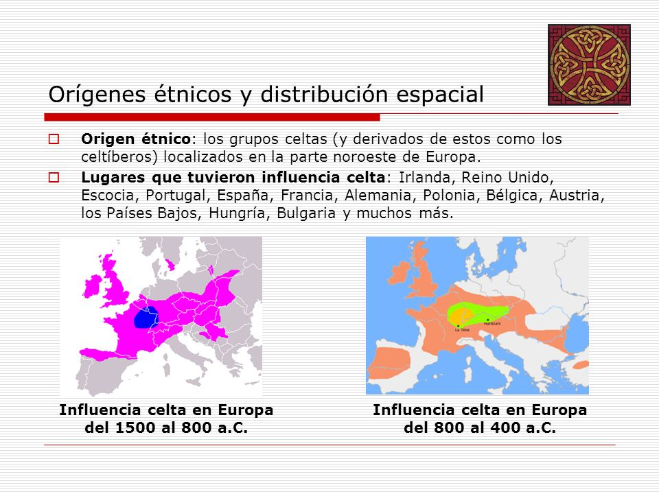 Orígenes étnicos y distribución espacial