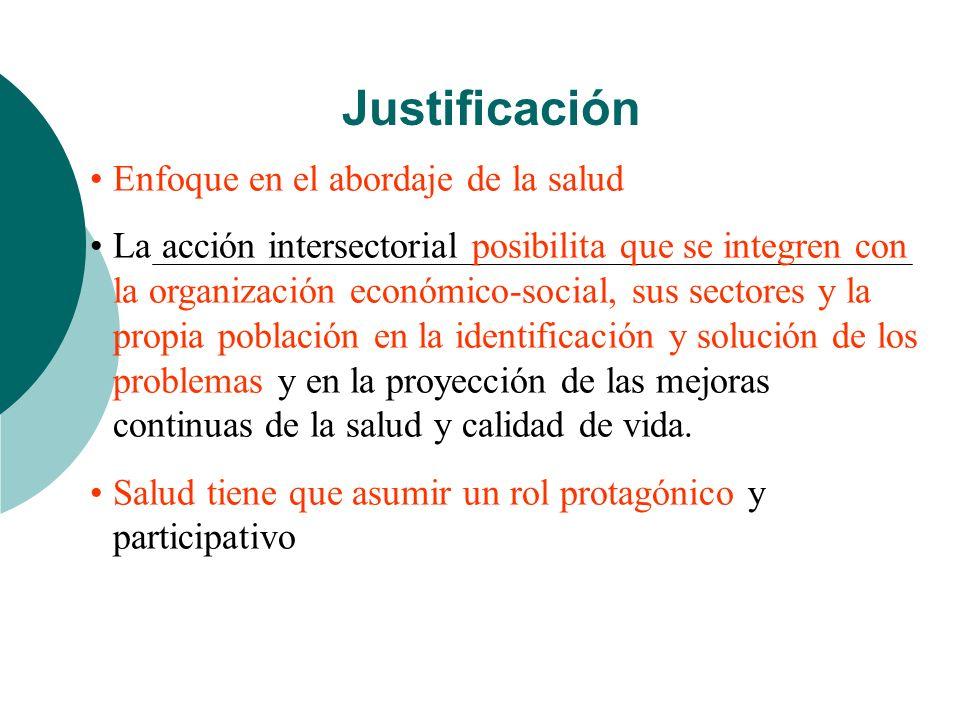 Justificación Enfoque en el abordaje de la salud