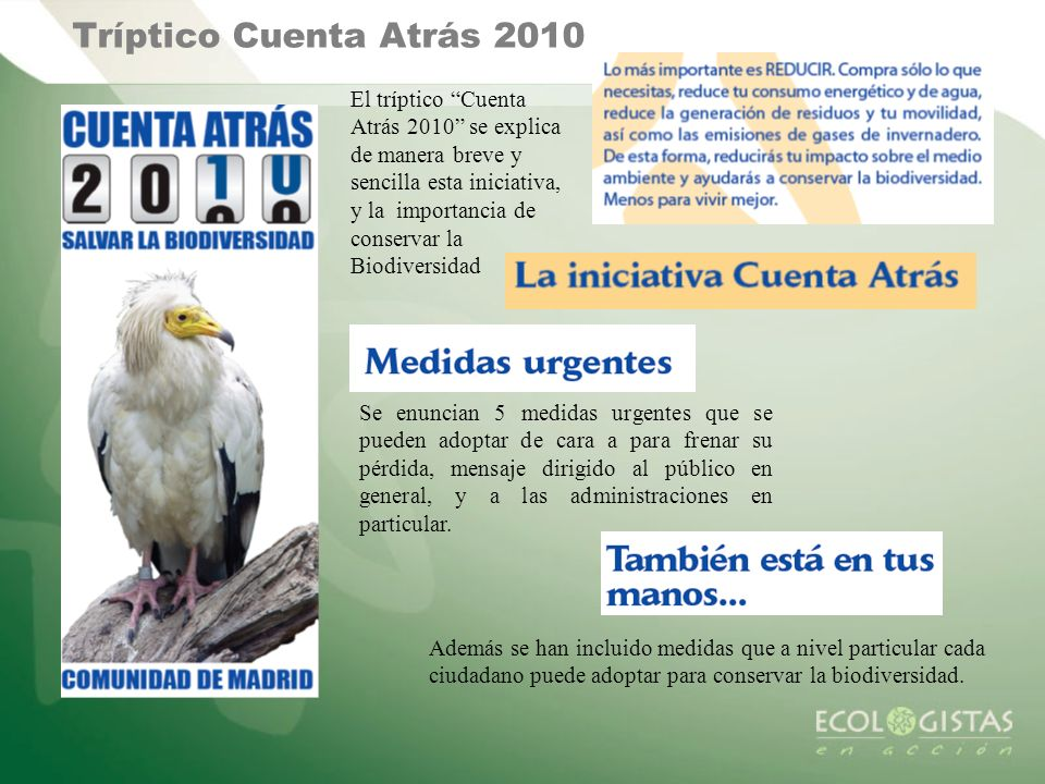 Tríptico Cuenta Atrás 2010