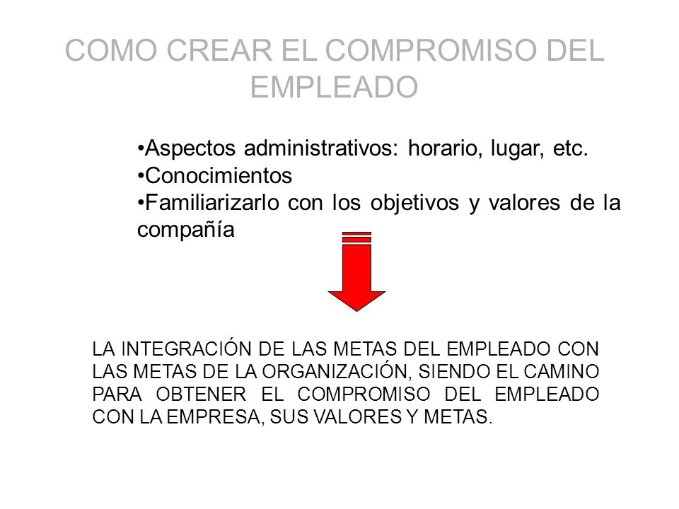 COMO CREAR EL COMPROMISO DEL EMPLEADO