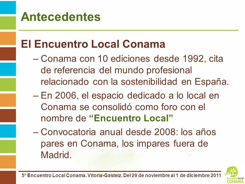 Antecedentes El Encuentro Local Conama