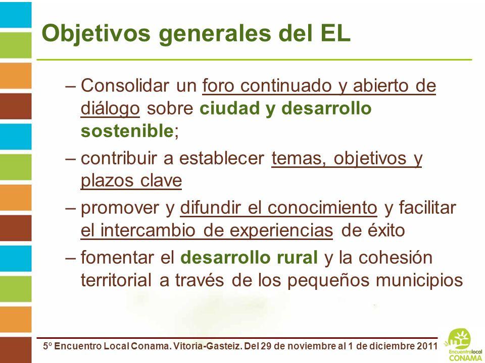 Objetivos generales del EL