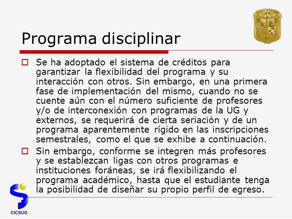 Programa disciplinar