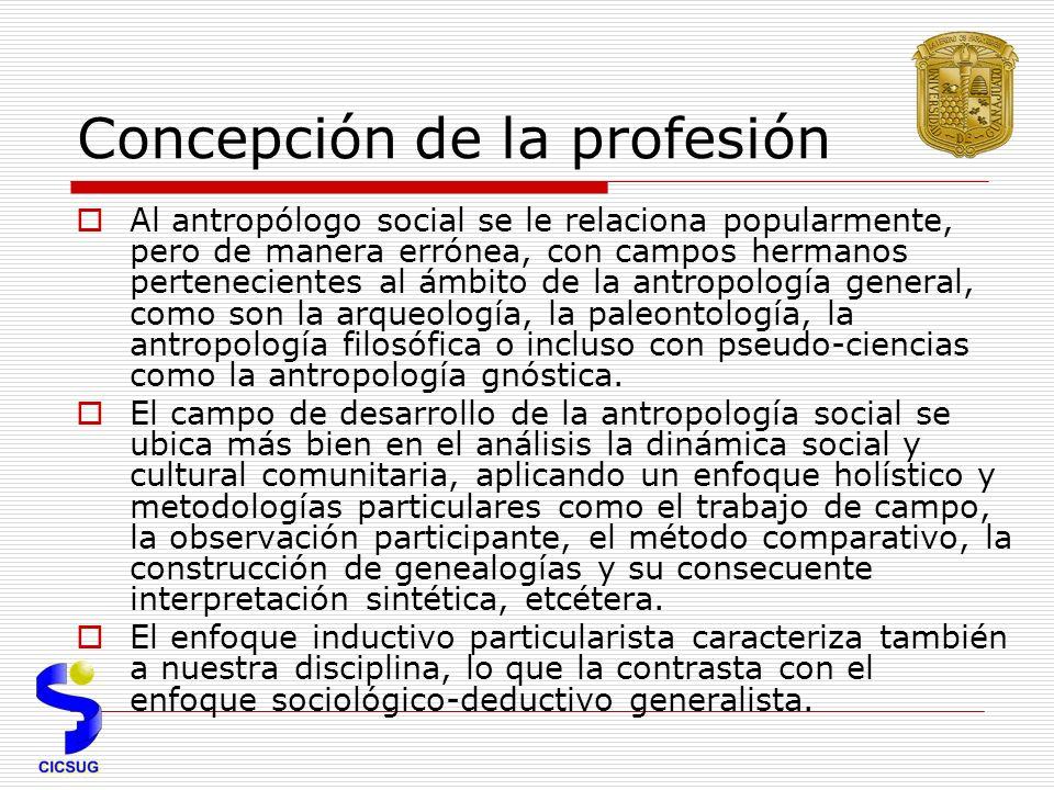 Concepción de la profesión