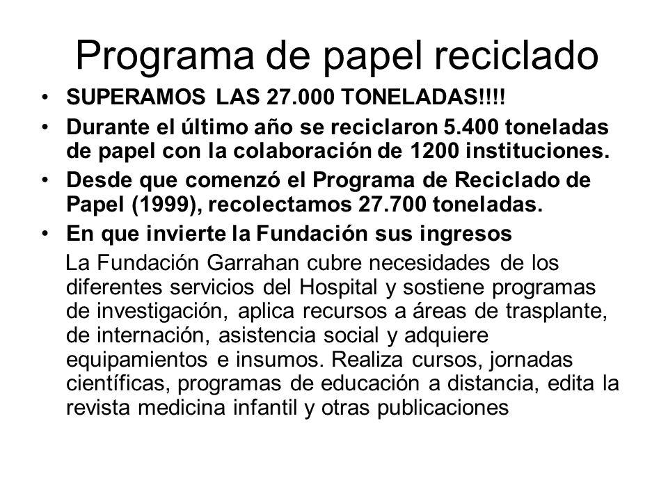 Programa de papel reciclado