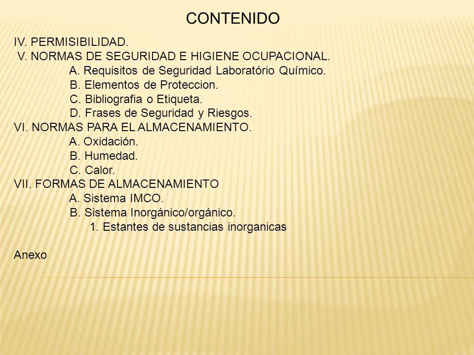 CONTENIDO IV. PERMISIBILIDAD.