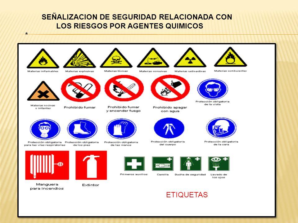 SEÑALIZACION DE SEGURIDAD RELACIONADA CON