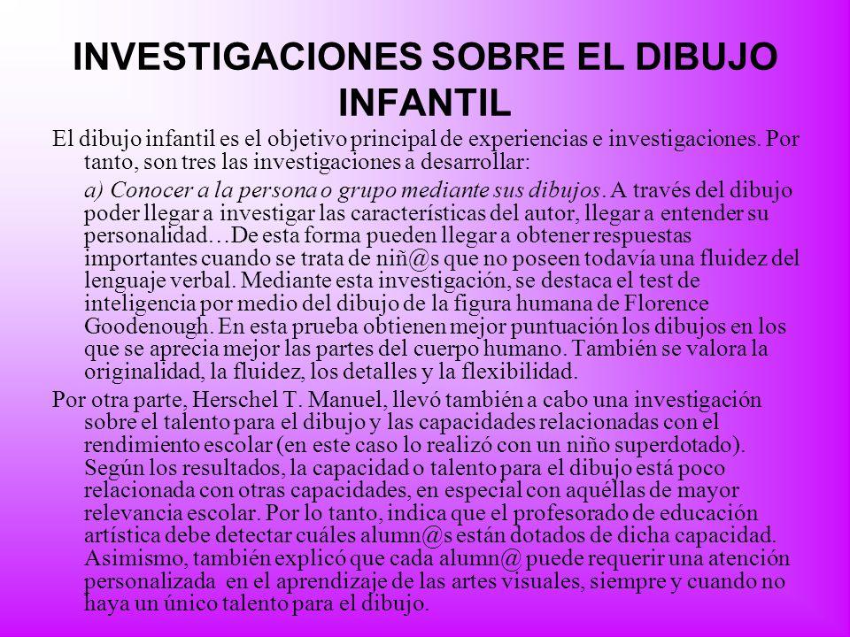 INVESTIGACIONES SOBRE EL DIBUJO INFANTIL
