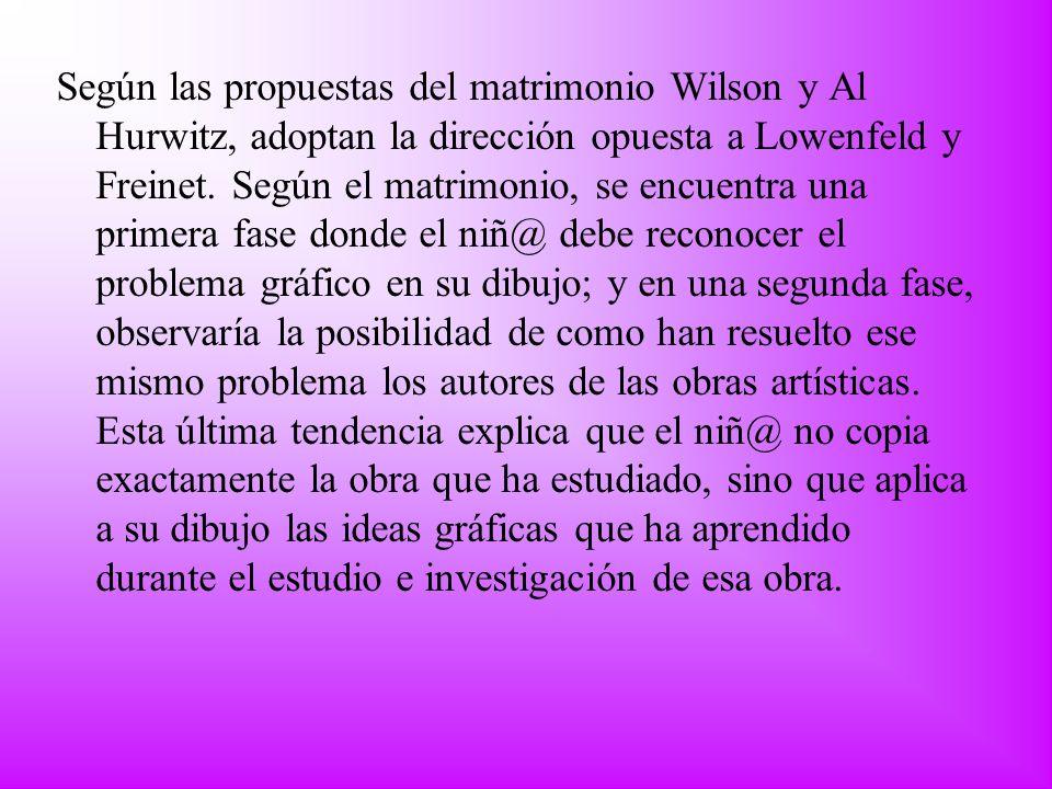 Según las propuestas del matrimonio Wilson y Al Hurwitz, adoptan la dirección opuesta a Lowenfeld y Freinet.