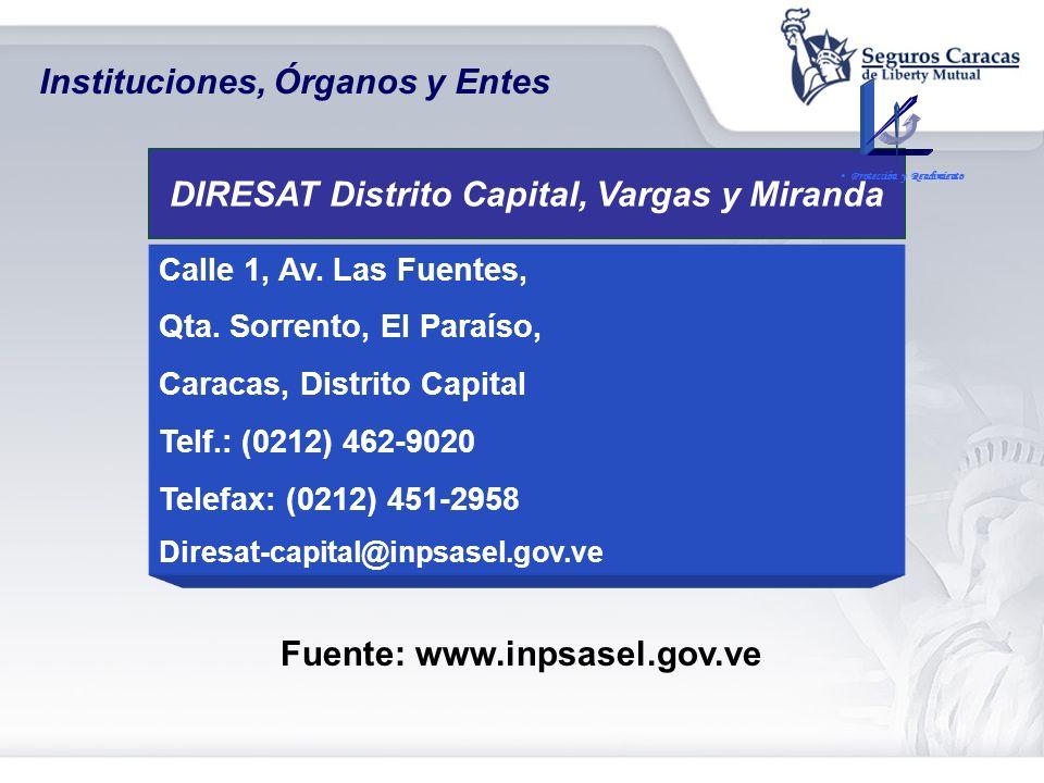 DIRESAT Distrito Capital, Vargas y Miranda