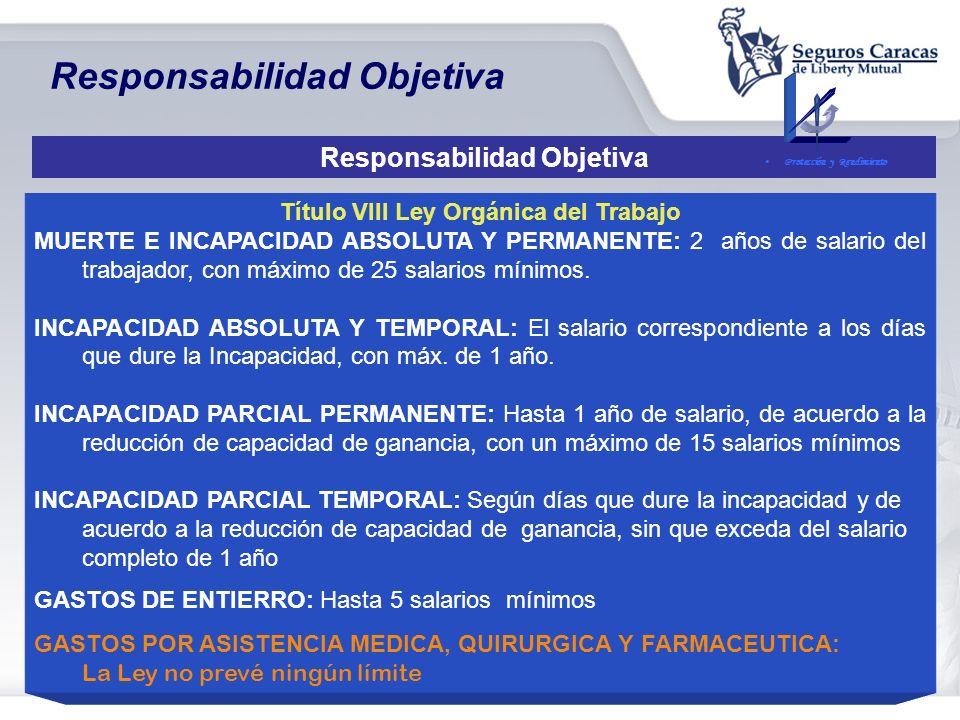 Responsabilidad Objetiva Título VIII Ley Orgánica del Trabajo