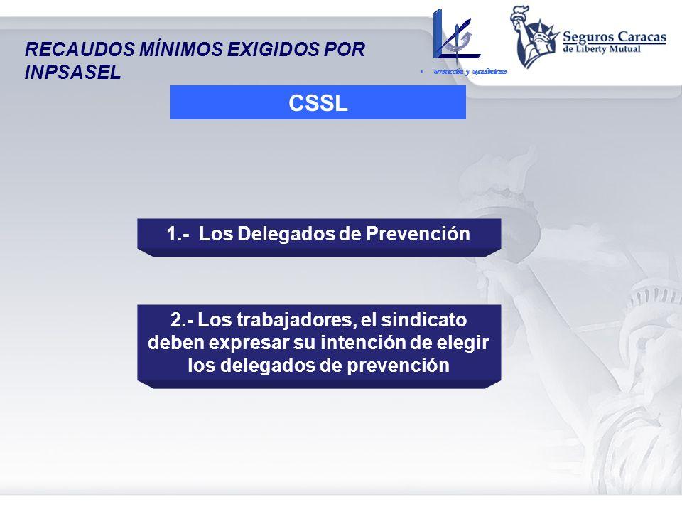 1.- Los Delegados de Prevención