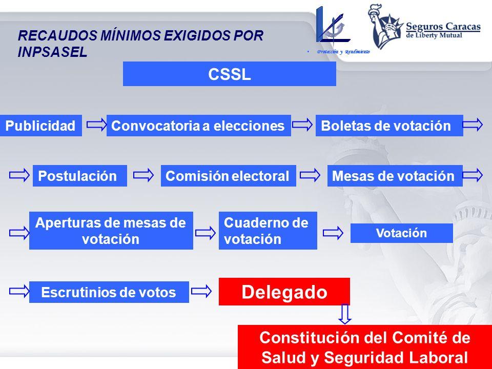 Delegado CSSL Constitución del Comité de Salud y Seguridad Laboral