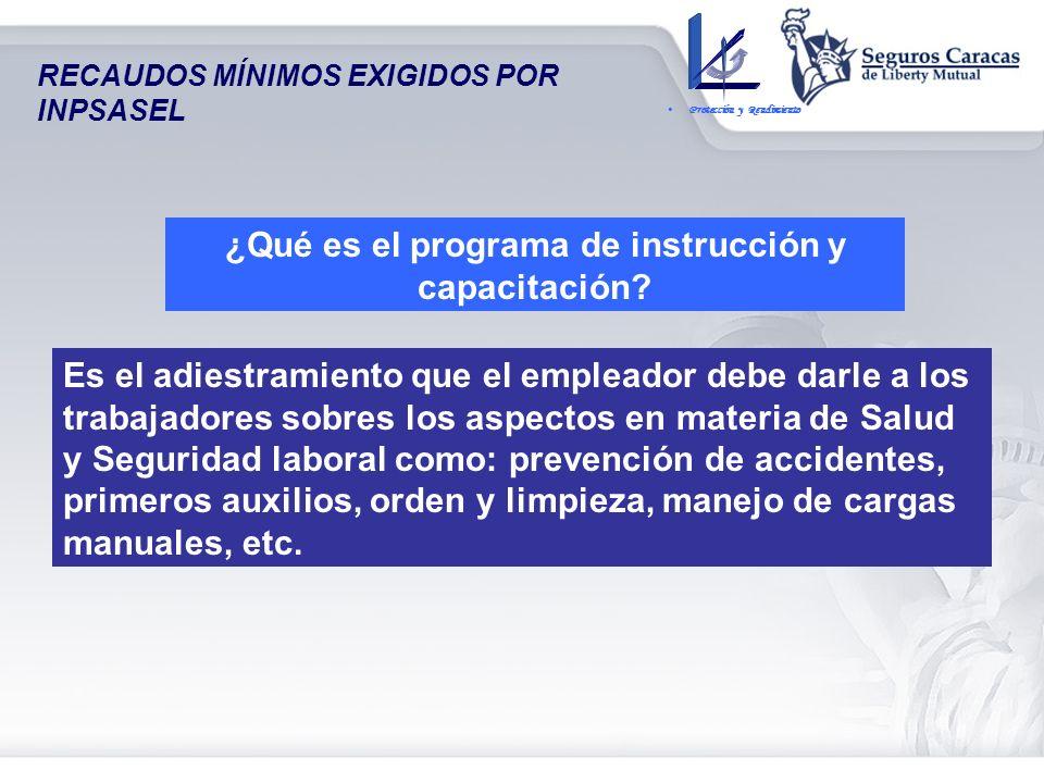 ¿Qué es el programa de instrucción y capacitación