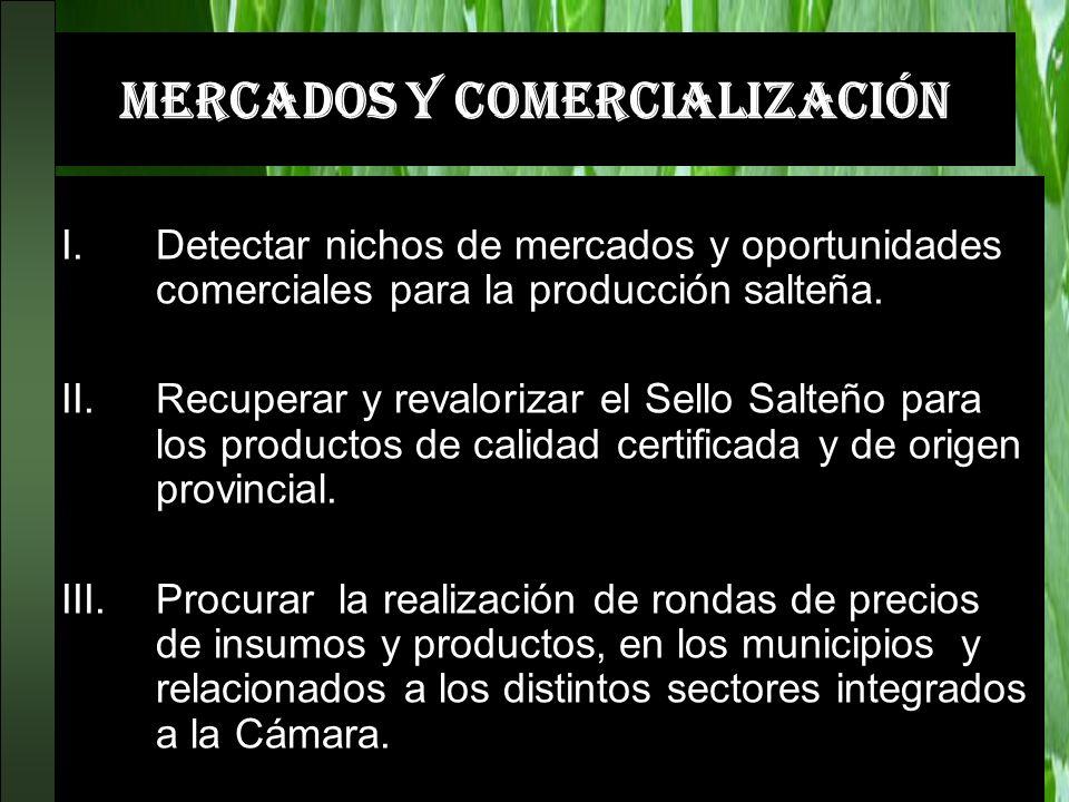 MERCADOS Y COMERCIALIZACIÓN