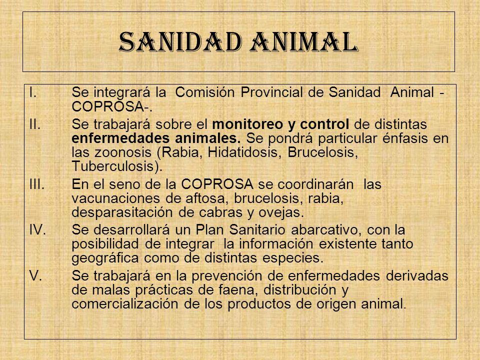 SANIDAD ANIMAL Se integrará la Comisión Provincial de Sanidad Animal - COPROSA-.