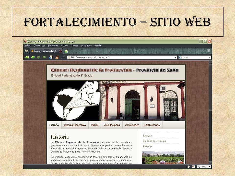 FORTALECIMIENTO – SITIO WEB