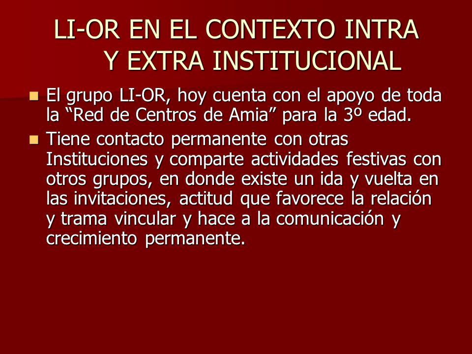 LI-OR EN EL CONTEXTO INTRA Y EXTRA INSTITUCIONAL