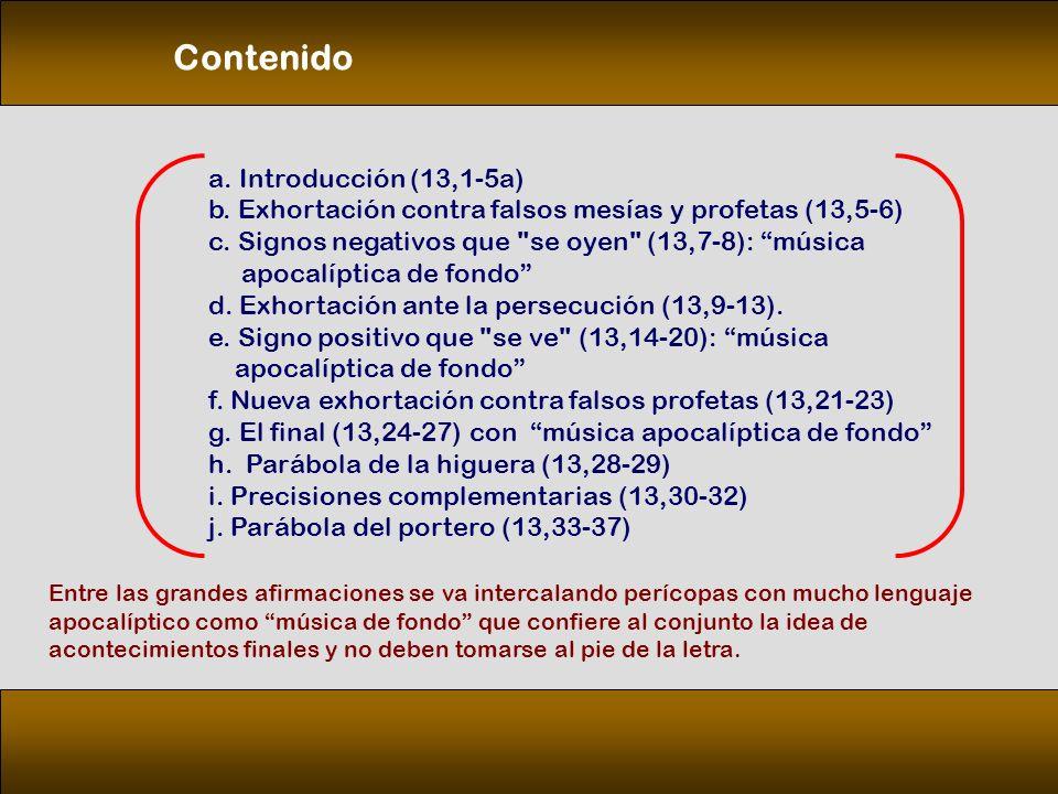 Contenido a. Introducción (13,1‑5a)