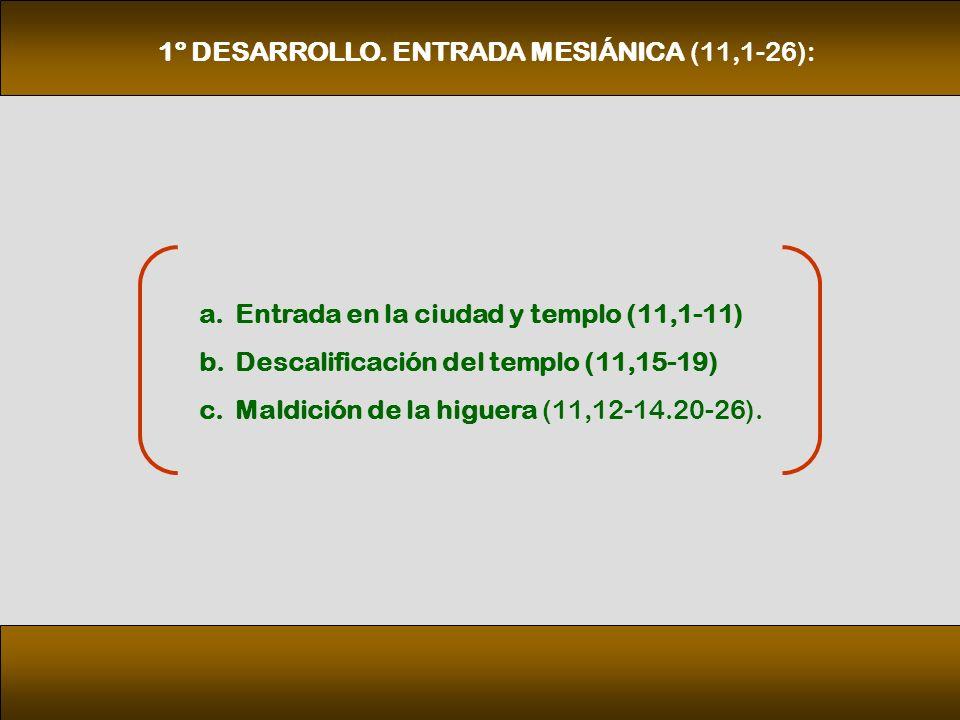 1º DESARROLLO. ENTRADA MESIÁNICA (11,1‑26):