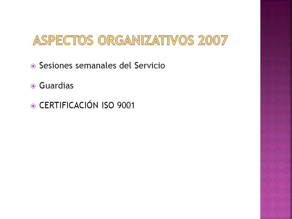 ASPECTOS ORGANIZATIVOS 2007