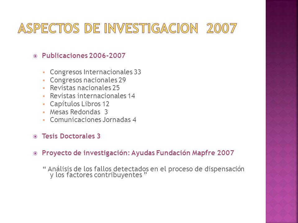 ASPECTOS DE INVESTIGACION 2007