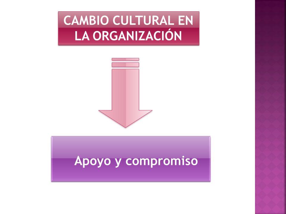 CAMBIO CULTURAL EN LA ORGANIZACIÓN