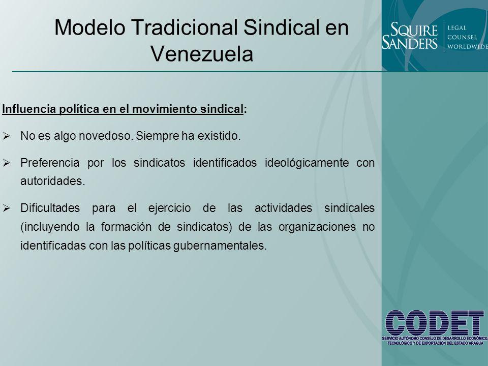 Modelo Tradicional Sindical en Venezuela