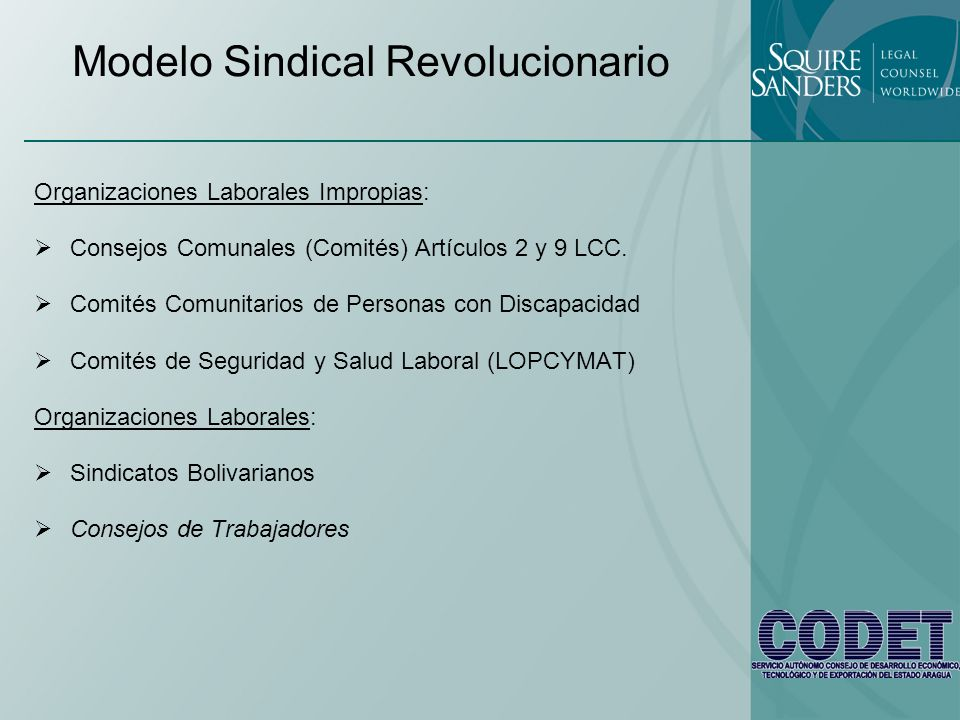 Modelo Sindical Revolucionario
