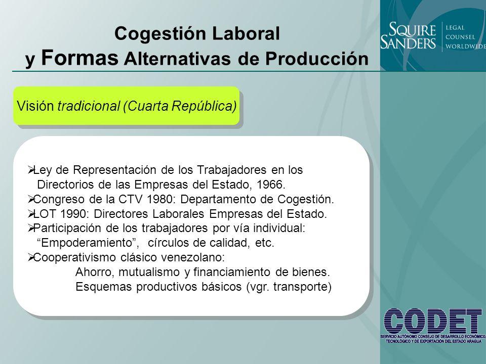 Cogestión Laboral y Formas Alternativas de Producción